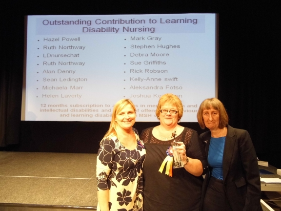 Outstanding Contribution to Learning Disability Nursing Award presented to Helen Laverty